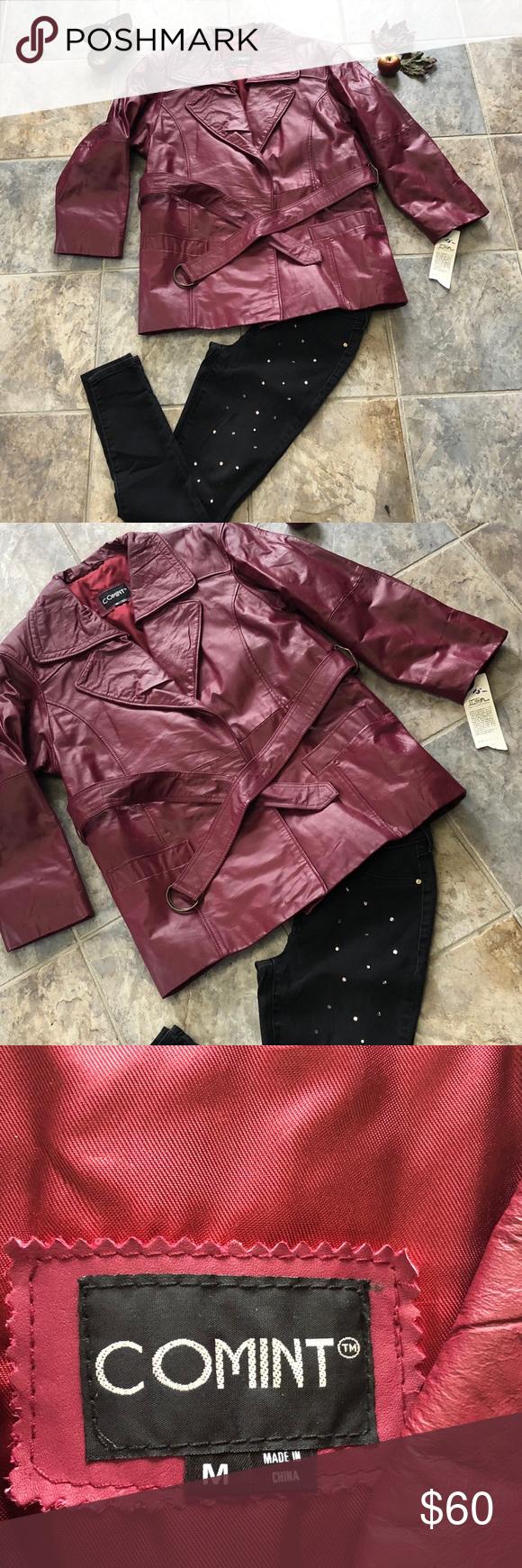 Vintage Comint Leather Coat Sz Med Nwt Leather Coat Clothes Design Fashion Design [ 1740 x 580 Pixel ]