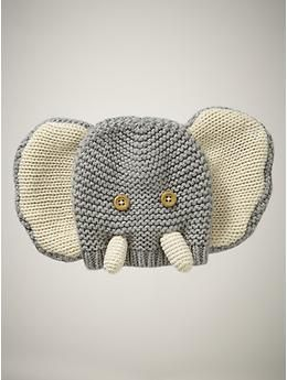 Soooo cute. . . but only size available is too small for Baby A.  Tempted to get it as a baby gift to give anyway.  Favorite elephant hat | Gap