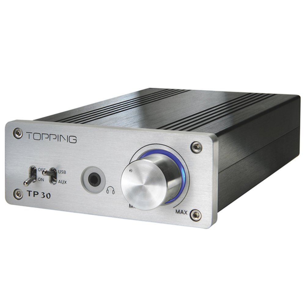 A great little amp if you're on a budget: Topping TP-30 TA2024 T-Amp