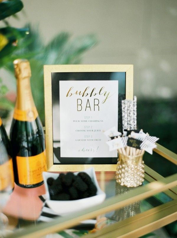 bar cart diy mimosa bar bubbly bar bridal shower poolside bridal shower at the four seasons denver couturecolorado wedding colorado wedding blog