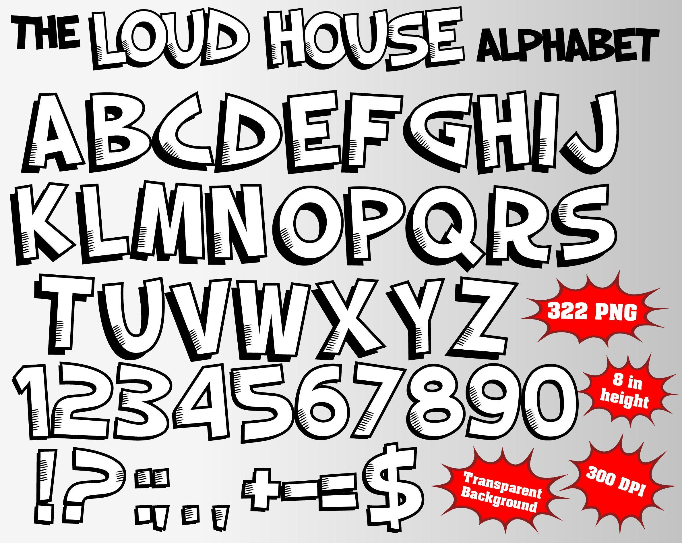 The Loud House Alphabet Numbers and Symbols 322 PNG