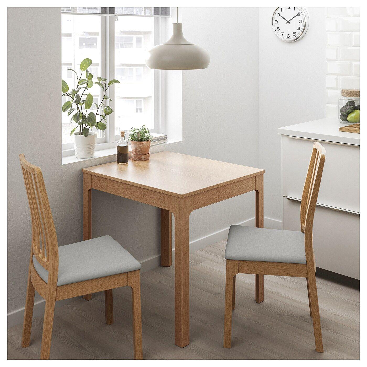 Ekedalen Tisch Und 2 Stuhle Eiche Orrsta Hellgrau In 2020