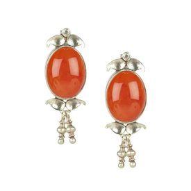 Buy Red Onyx Twin Leaf Drops 113je23 Online Jaipurmahal Ethnic