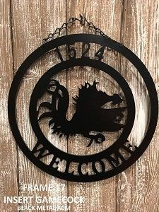 Custom Metal Gamecock Door Hanger Metal Gamecock Sign Gamecock Garden Flag Frame 17 Gamecock Metal Monogram Door Hanger Metal Decor Monogram Door Hanger