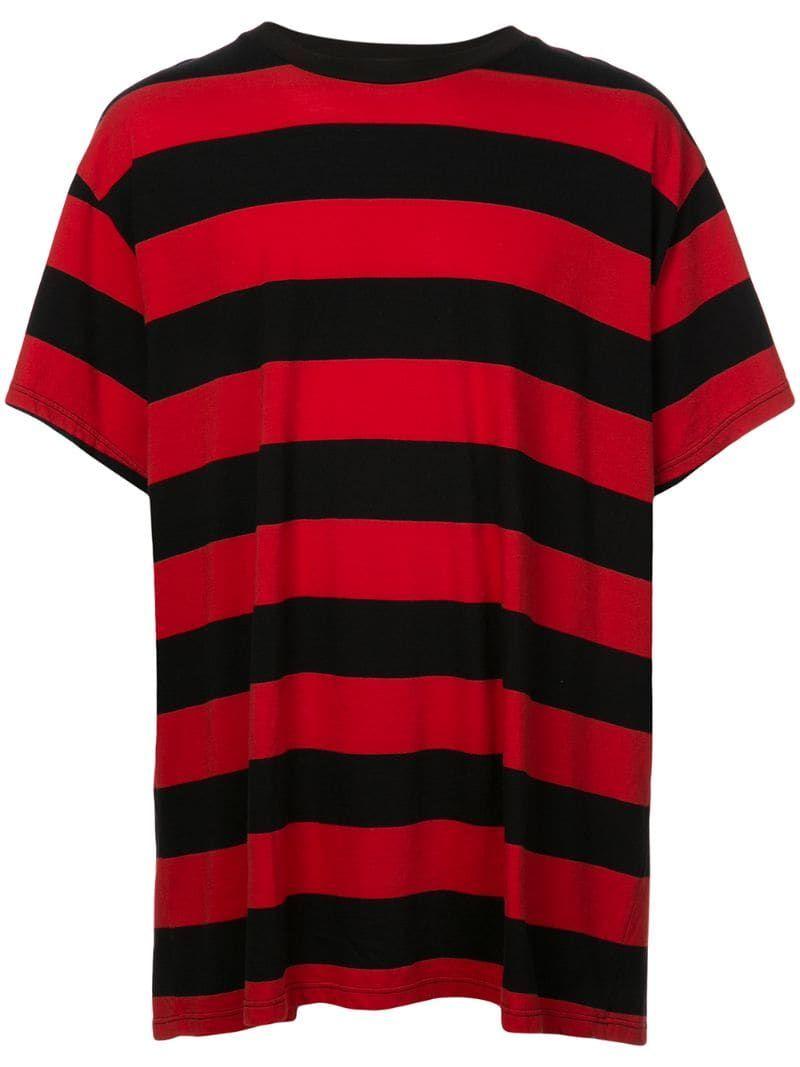 Amiri Striped Oversized T Shirt Red Oversized Tshirt Shirts Black Striped Shirt