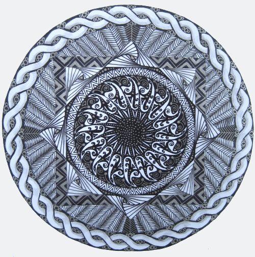 Sun's Eye Mandala/Zendala by PatsParaphernalia, via Flickr