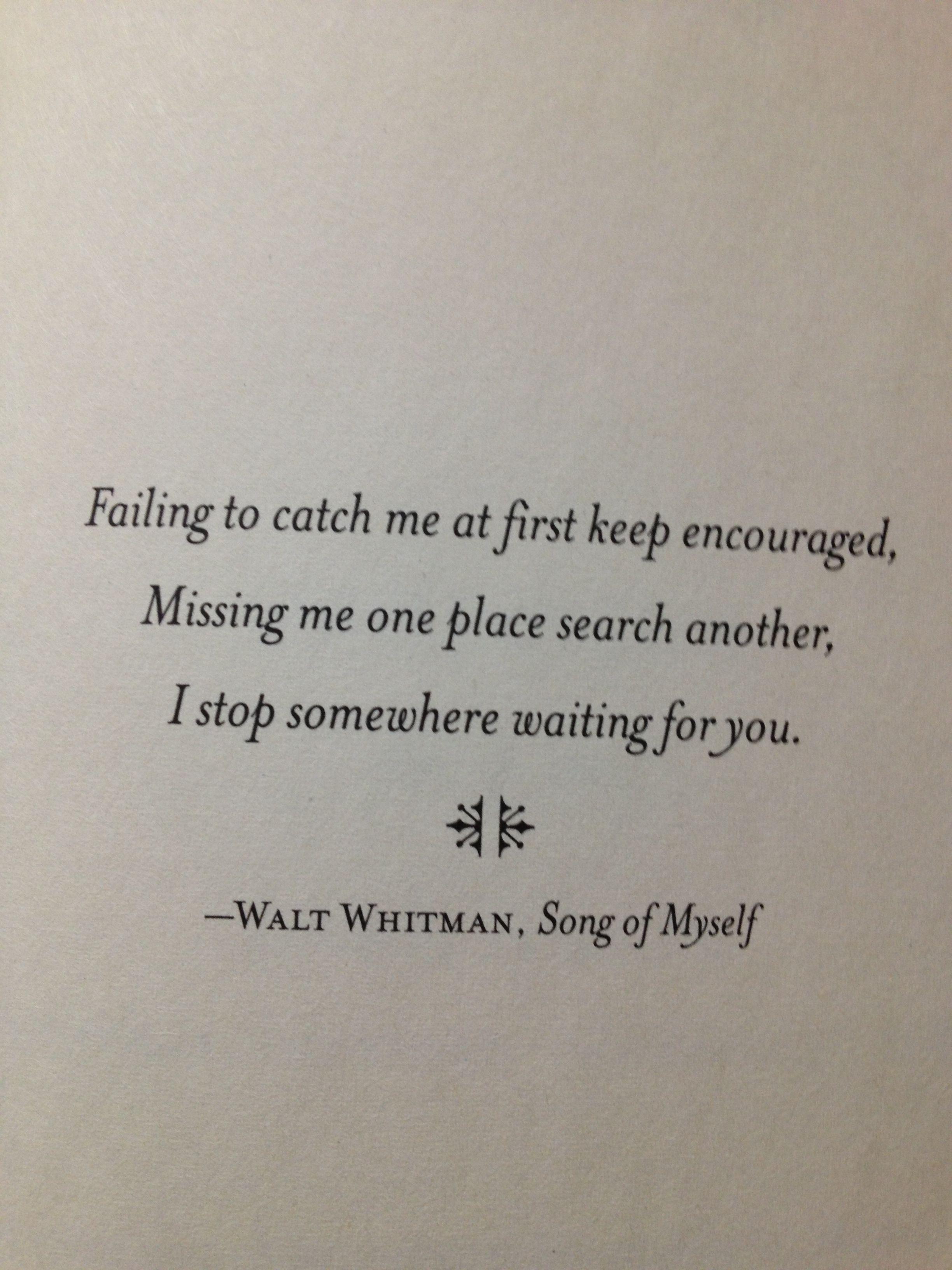 Citaten Uit Literatuur : Walt whitman i stop somewhere waiting for you. walt whitman