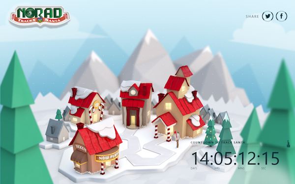 Four Awesome Windows Apps for the Holidays Santa tracker