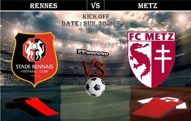 Rennes Vs Metz 30 10 2016 Predictions Preview Ppsoccer Soccer Predictions Rennes Soccer