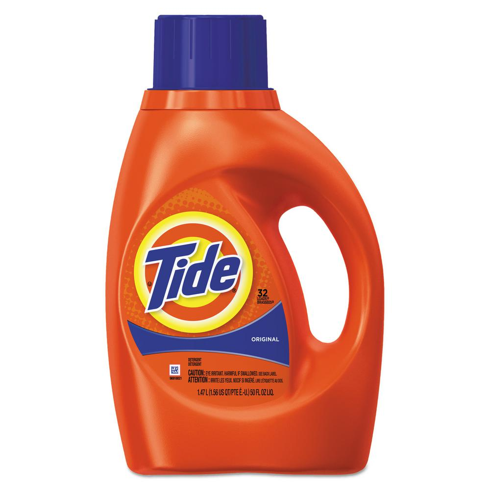 Tide 50 Oz Original Scent Liquid Laundry Detergent Case Of 6