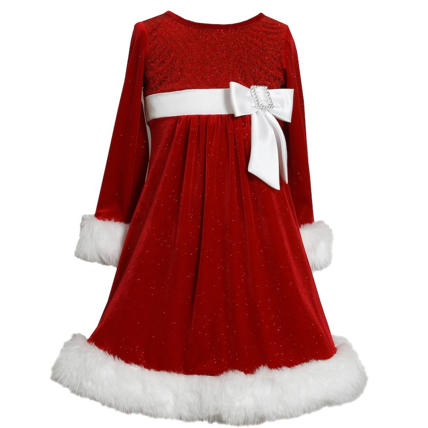 7e311d17b Girls 4-6x Bonnie Jean Glittery Velvet Dress