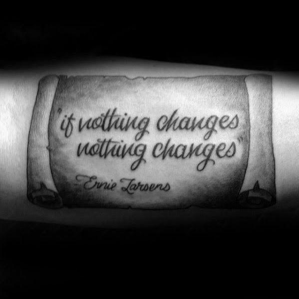 Photo of 40 avant-bras citation tatouages pour hommes libellés idées de conception 75 meilleure courte citation de tatouage …
