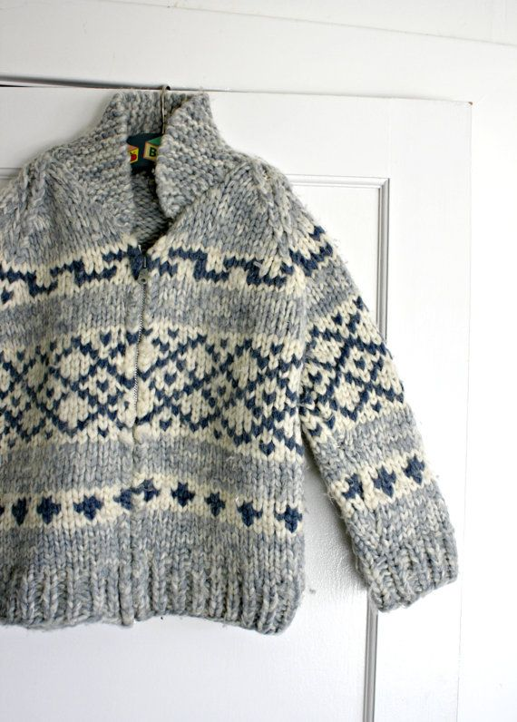 Vintage Child's Cowichan Sweater Handmade by