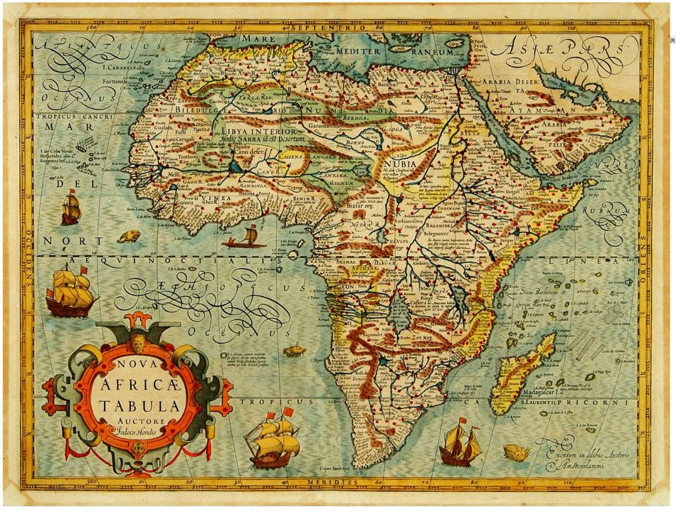 vintage map of Africa httpimg0etsystaticcom00006320852