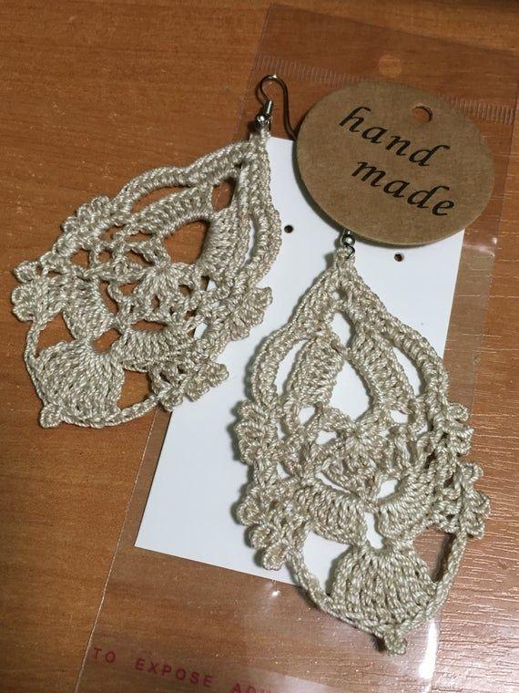 Crochet earring, crochet dangle earrings, crochet oriental earrings, crochet openwork earrings, crochet bikini earrings, crochet beachwear