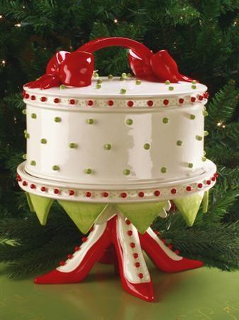 664344b6324e5 Pretty Please Santa!!! High Heel Shoe Cake Plate Dome i love the ...