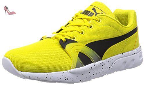 Puma XT S Speckle Trinomic Baskets Hommes Yellow 37