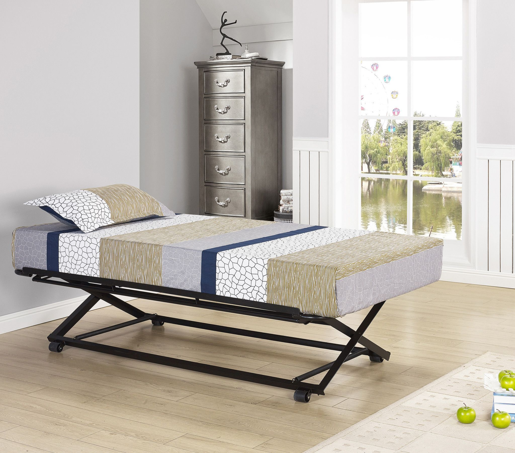 39 Twin Size Black Or White Metal Day Bed Frame