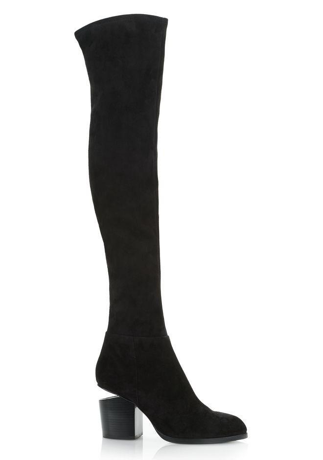 1316a7b1aa5 ALEXANDER WANG GABI THIGH HIGH SUEDE BOOTS - BLACK.  alexanderwang  shoes
