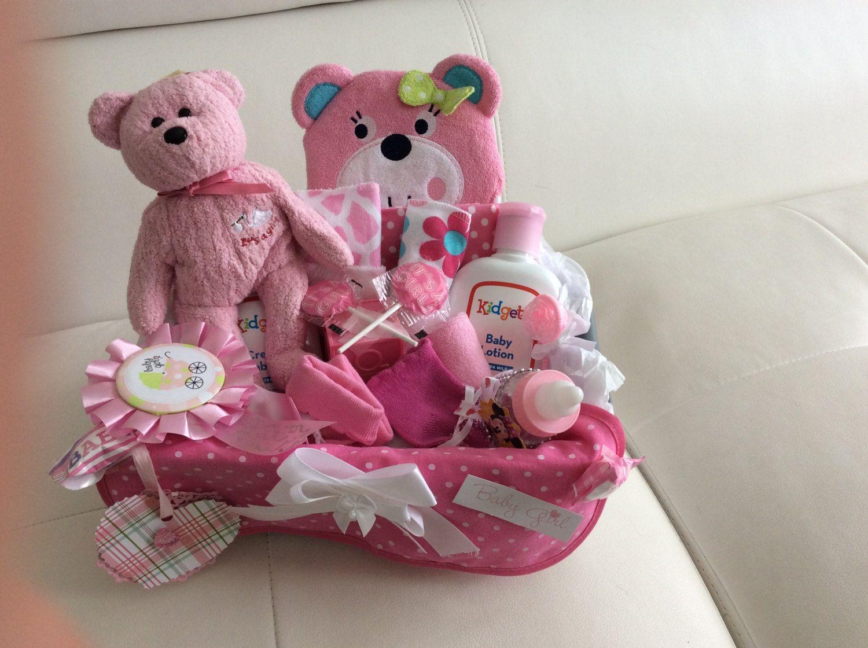 Diaper Gift Basketbaby Girl Diaper Basketbaby Shower Girl Gift
