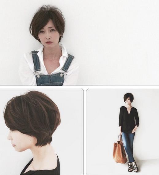 辺見えみりのショートヘアとファッション 辺見 髪型 ショートボブ