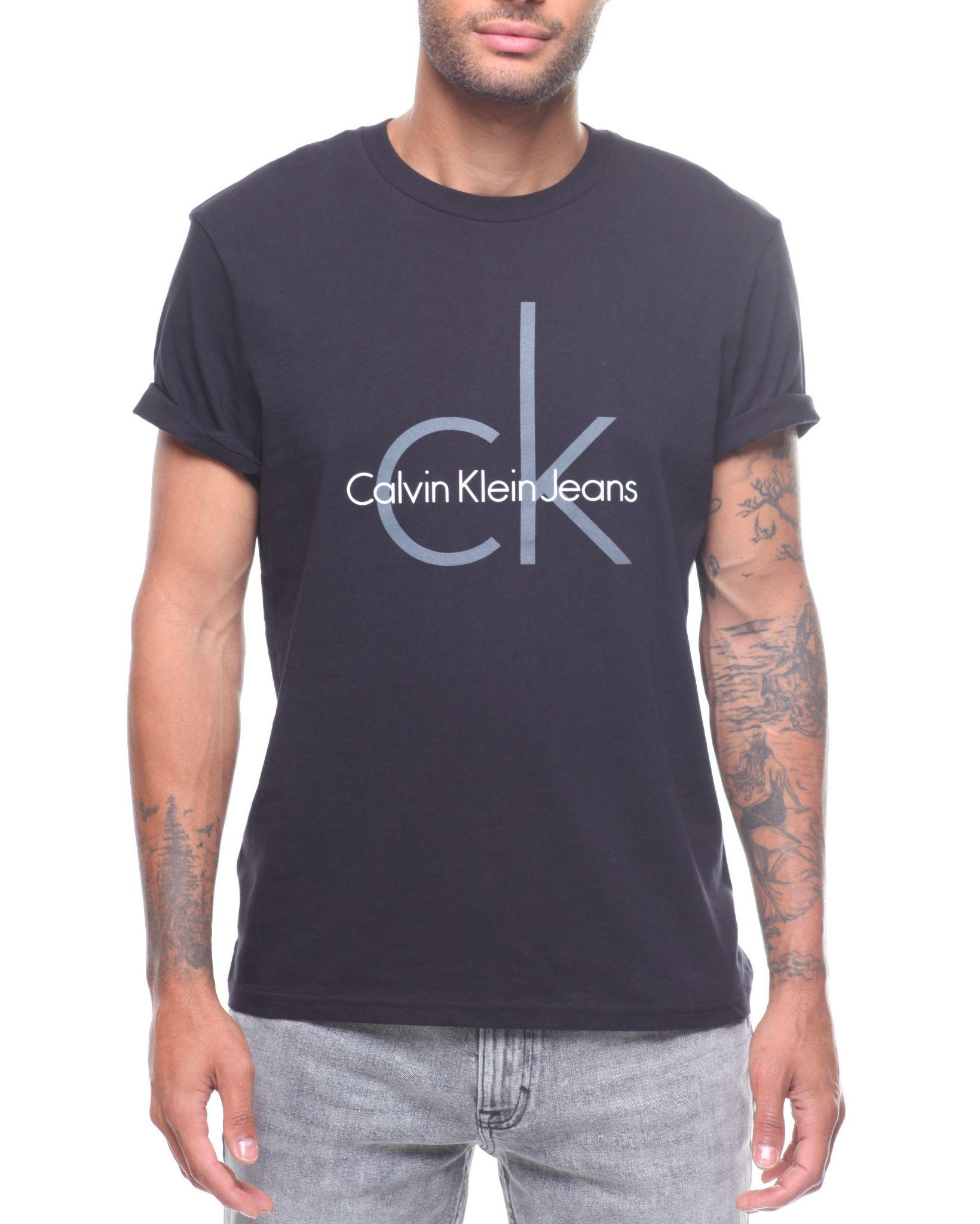 b02480a1a CLASSIC CK LOGO CREW NECK TEE Men's Shirts from Calvin Klein. Find Calvin  Klein fashion & more at DrJays.com