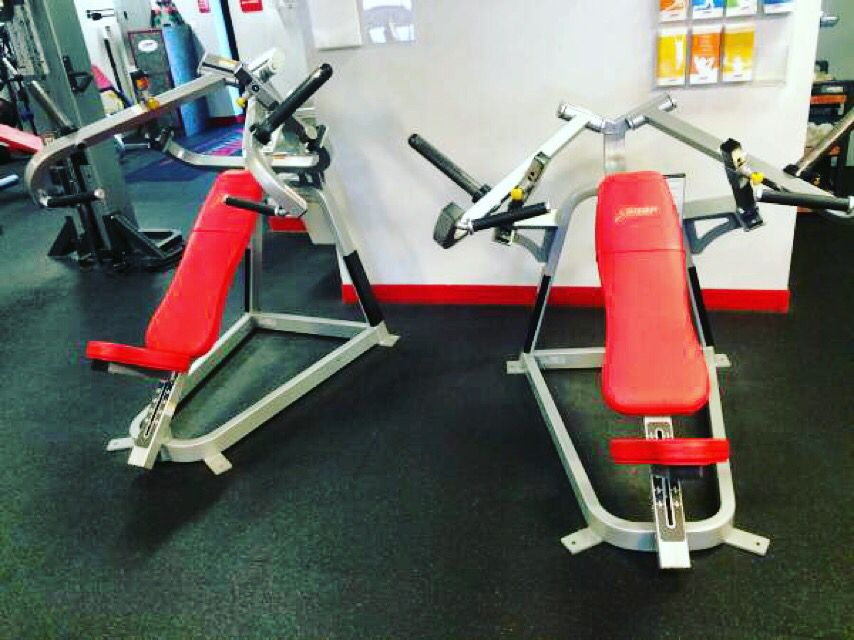 Cybex Chest Press And Incline Chest Press Both Plate Loaded And Identical To What You See Use In You Fitness Center Today They Have Been Fully Serviced And Are
