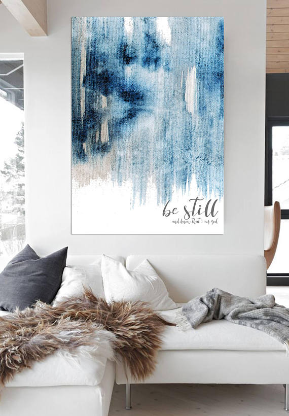 Be Still And Know Wall Decor Contemporary Art Farmhouse