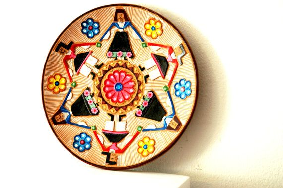 1950\'s Vintage Antique European German Folk Art October Fest Theme ...
