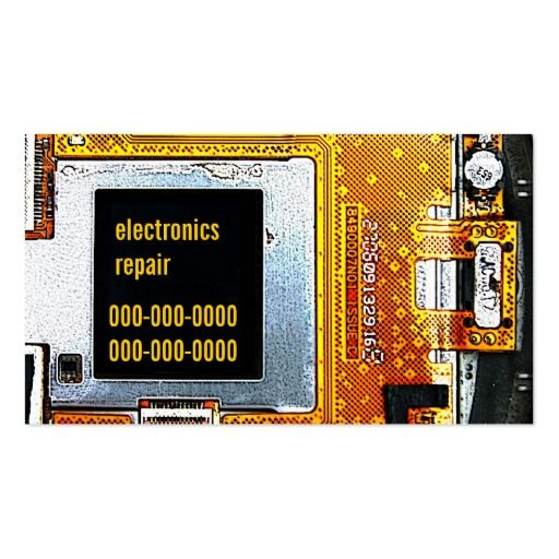 Electronics Repair Business Card Template Zazzle Com Business Card Template Business Cards Cool Business Cards