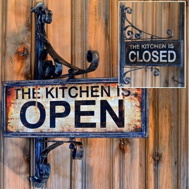 Kitchen Swivel Open Closed Sign Open Closed Signs Kitchen Signs Antique Farmhouse