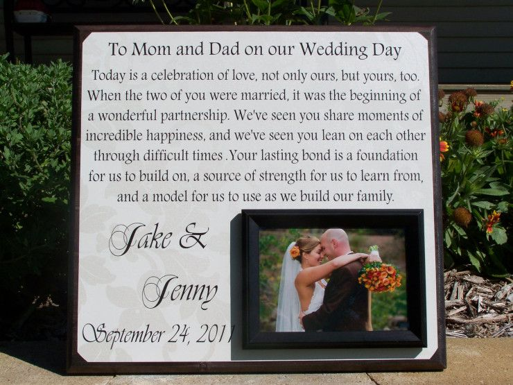 Personal Wedding Gift for Parents: parent wedding gift ideas | KK ...