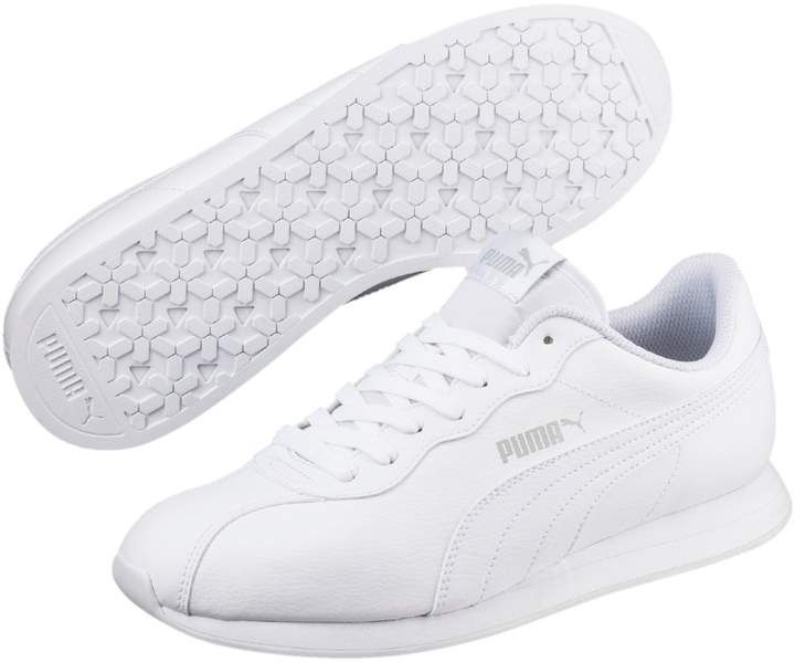 PUMA Juniors//Big Kids Shoes Turin Leather White Fashion Sneakers