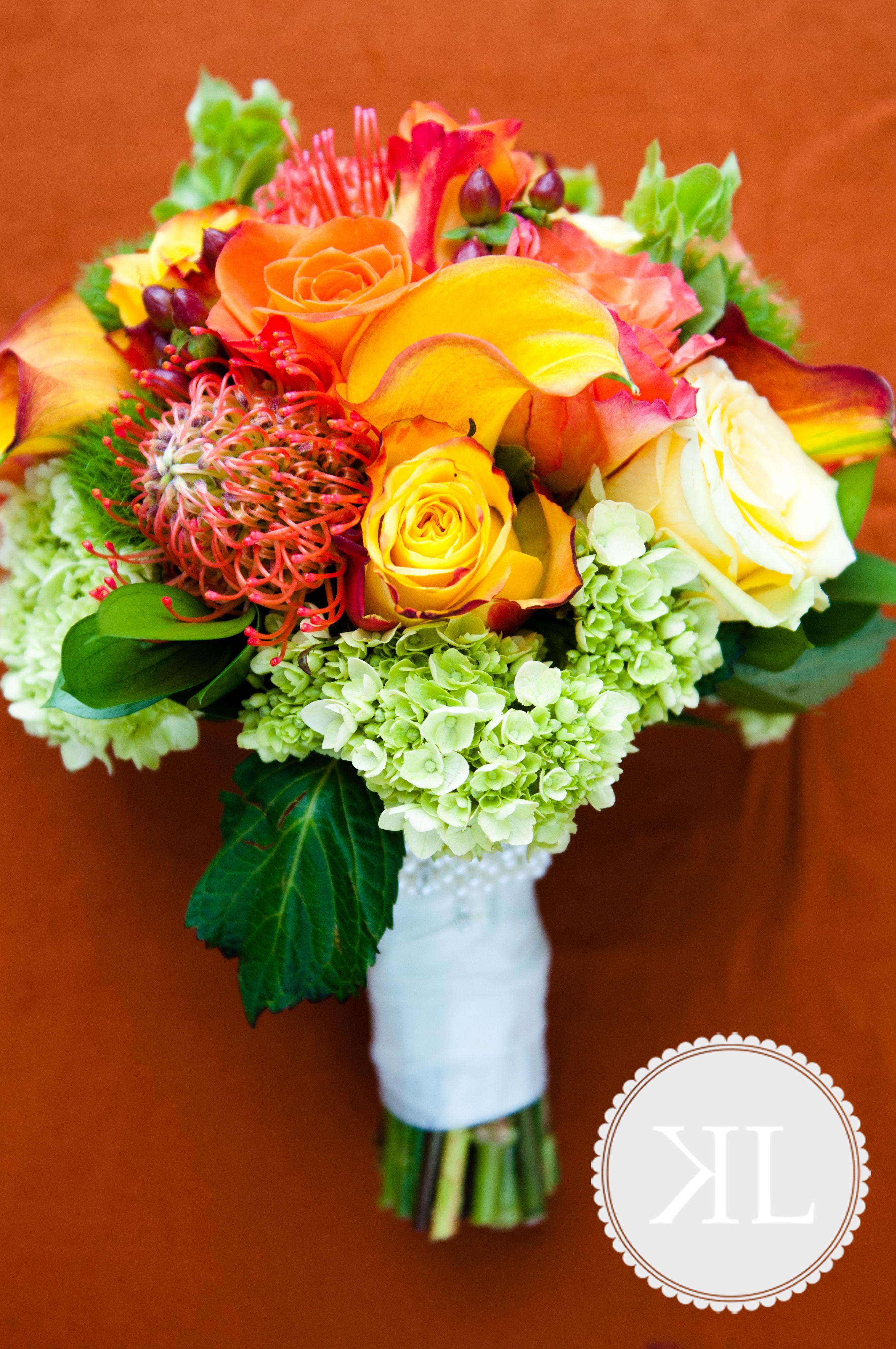 Calla lily, Pin Cushion Protea, Free Sprit, Gelosia and