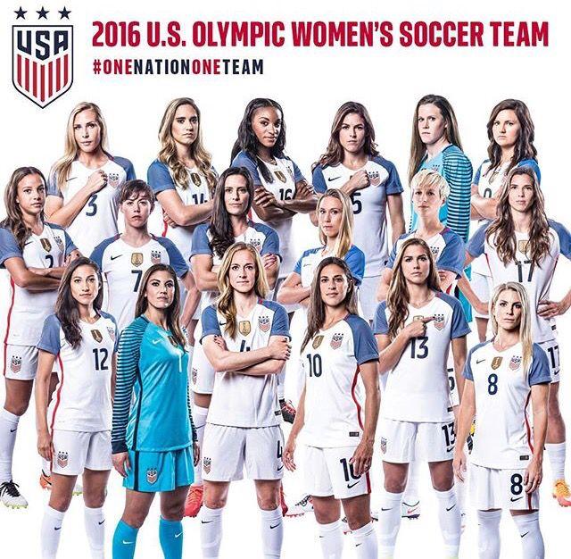 Uswnt Rio Olympic Team Usa Soccer Women Womens Soccer Women S Soccer Team