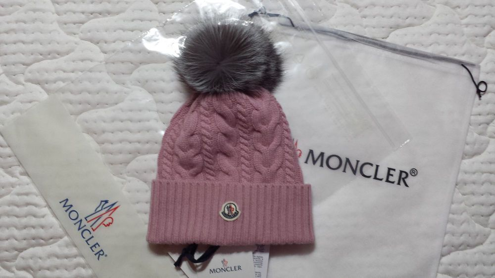 New Womens Hat Moncler Cable Knit Beanie With Genuine Silver Fox Fur Pom Fashion Clothing Shoes Accessories Womensaccessor Hats For Women Fur Pom Pom Hats
