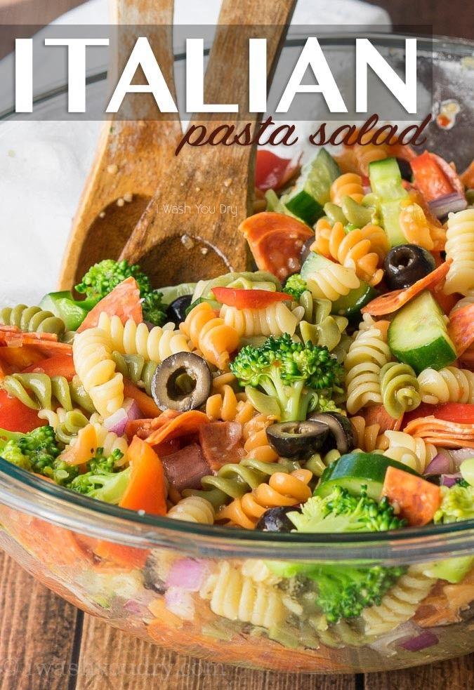 Clic Italian Pasta Salad Recipe Community Day Recipes Pinterest And