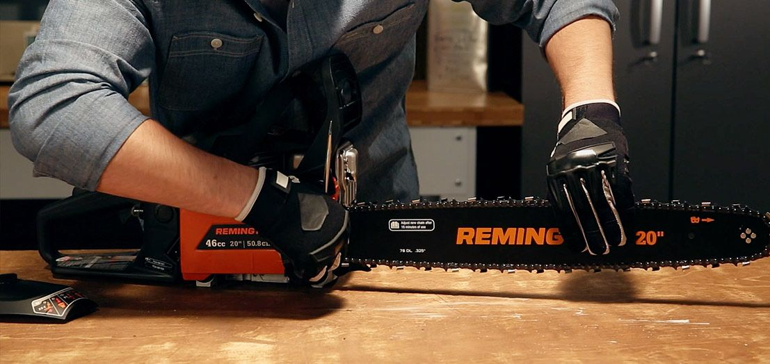 How To Adjust A Chainsaw Chain Chainsaw Chainsaw Chains Electric Chainsaw