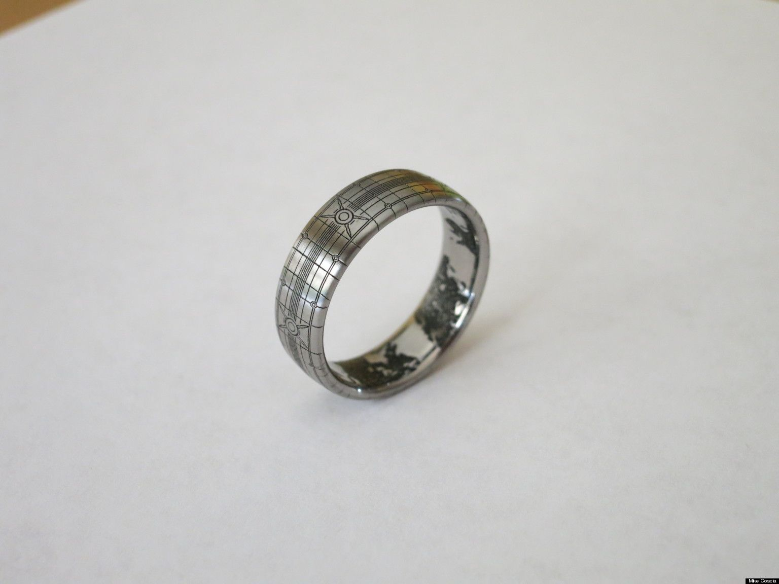 die hard halo fan mike coscia designed a wedding band inspired by the