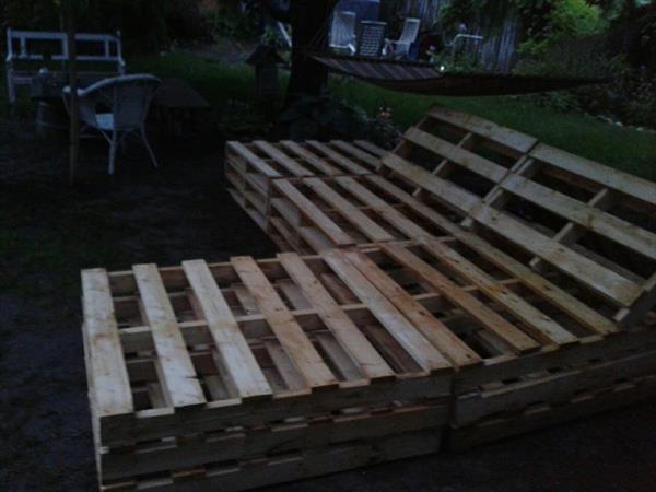 diy outdoor pallet sectional. DIY Pallet Outdoor Sectional Furniture Diy