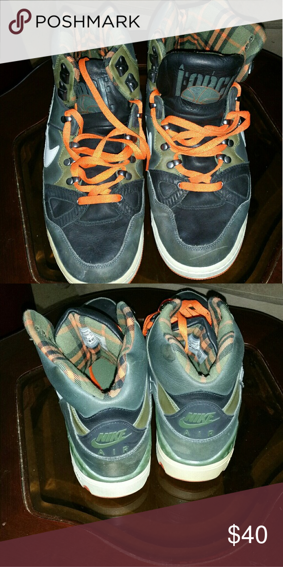 Shop Men's Nike Green Orange size 12 Athletic Shoes at a discounted price  at Poshmark. Description: Men's Airforce Sold by Fast delivery, full  service ...