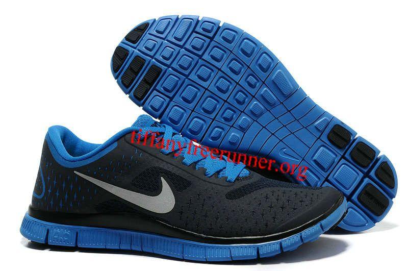 separation shoes 4b4b2 4d6b2 Womens Nike Free 4.0 V2 Dark Obsidian Reflective Silver Soar Blue Running  Shoes