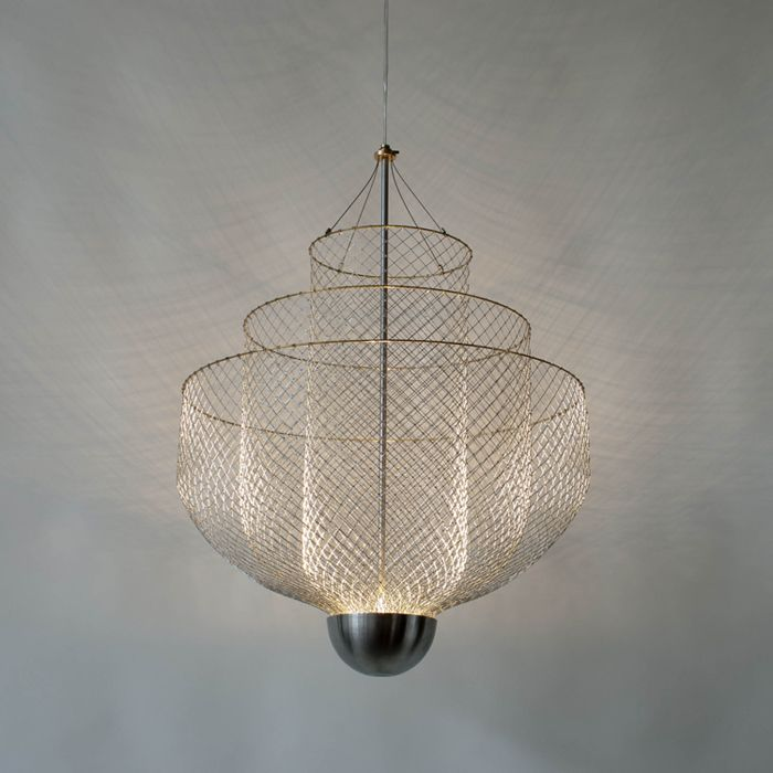 A Similar Effect Could Be Created Using Chicken Wire And Old Chandelier Crystals It Would Be Pretty Suspend Diy Chandelier Wire Chandelier Chicken Wire Crafts