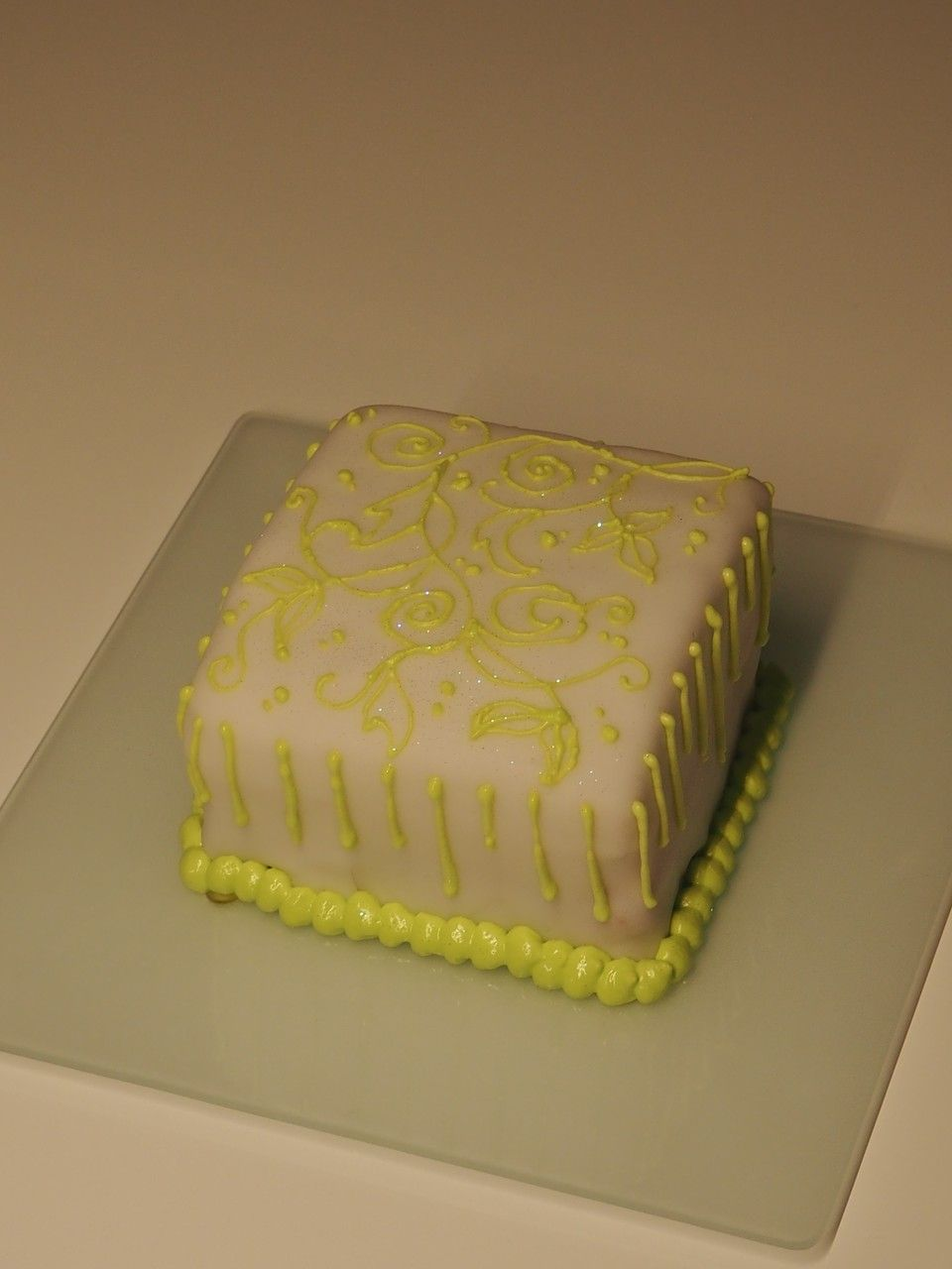 Minicake Royal icing green