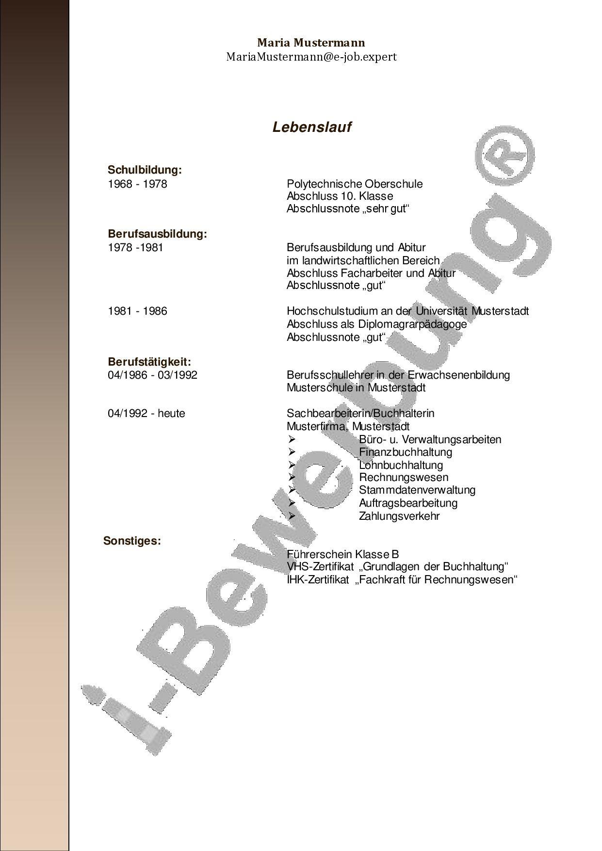 Groß Proforma Lebenslauf Für Buchhalter Bilder - Entry Level Resume ...