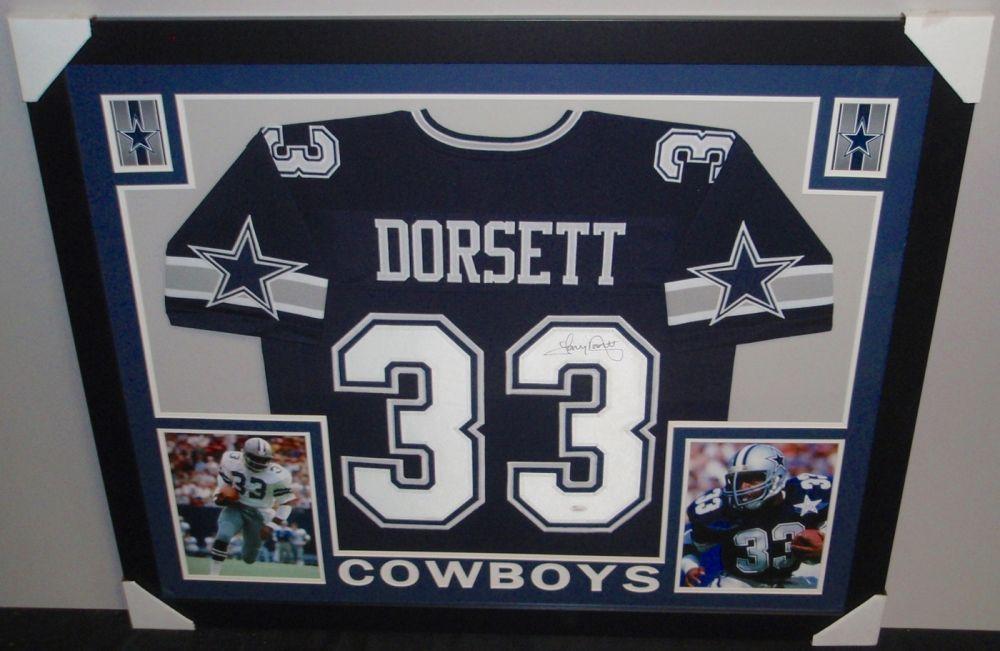 size 40 7e539 68ba2 Tony Dorsett Signed Cowboys 35x43 Custom Framed Jersey (JSA ...