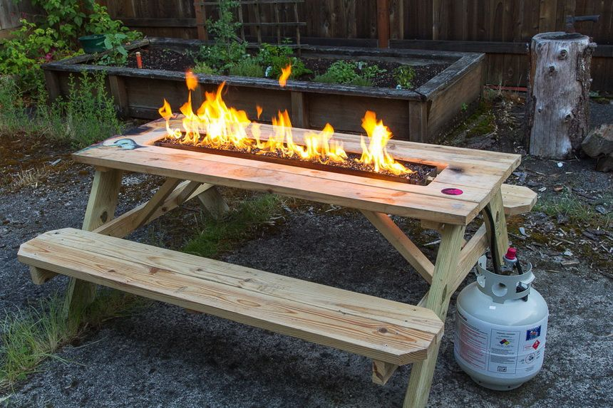 This Fire Pit Picnic Table Allows You The Opportunity To Sit