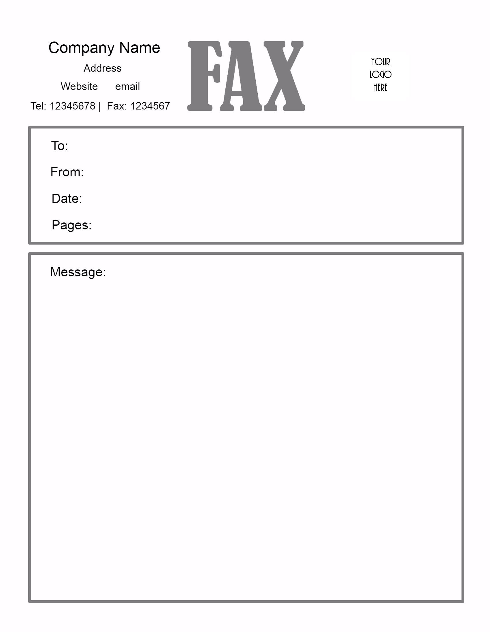 How Does A Fax Cover Sheet Look Like Printable Fax Cover Sheet