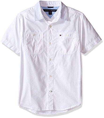 Tommy Hilfiger Boys Short Sleeve Woven Shirt
