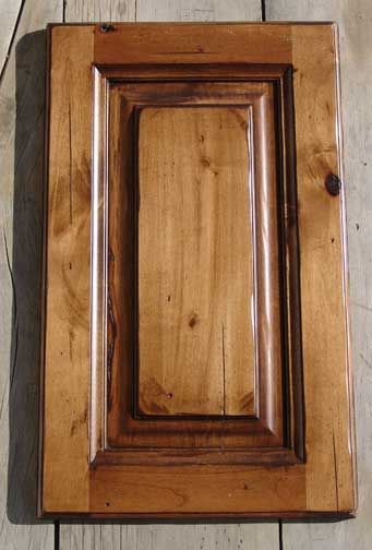 Knotty Alder with Cedar stain glazed and distressed ...